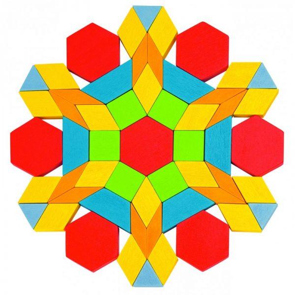 Les attrimaths ou formes géométriques en bois sont des formes géométriques respectant un code couleur et des dimensions normées.