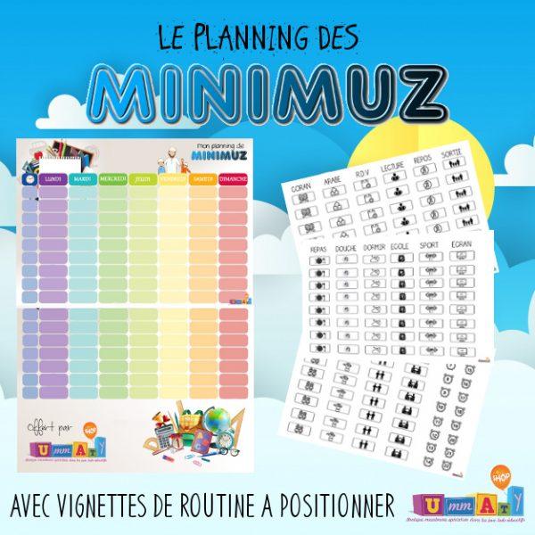 Ton planning de Minimuz gratuit