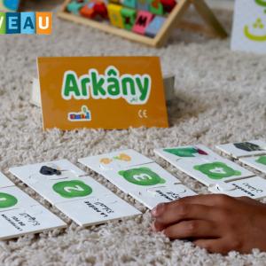 L'équipe d'Ummaty Toysest ravie de vous présenter un jeu ludique pour apprendre à votre enfant les5 piliers de l'Islamtout en s'amusant : VoiciArkâny!